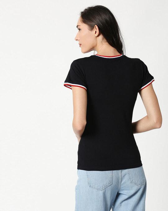 Shop Hello Sunshine Crewneck Varsity Rib H/S T-Shirt Multicolors-Back