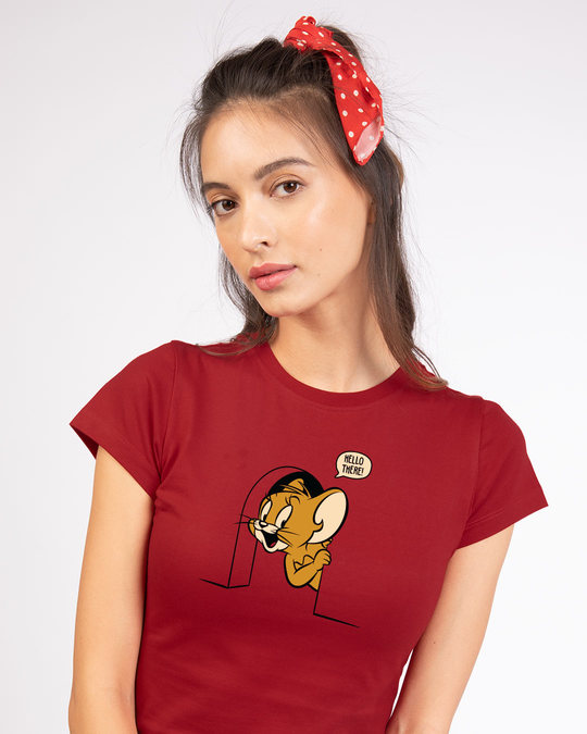 Shop Hello There Jerry Half Sleeve T-shirt (TJL)-Front
