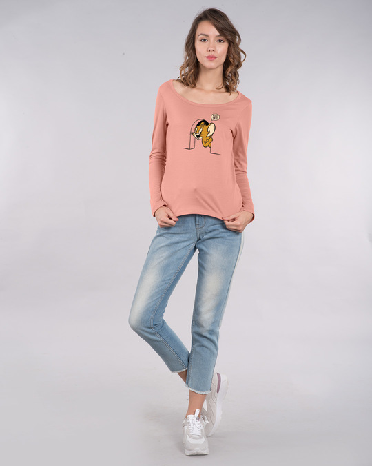 Shop Hello There Jerry Scoop Neck Full Sleeve T-Shirt (TJL)-Design