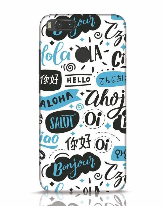 Shop Hello Xiaomi Mi A1 Mobile Cover-Front