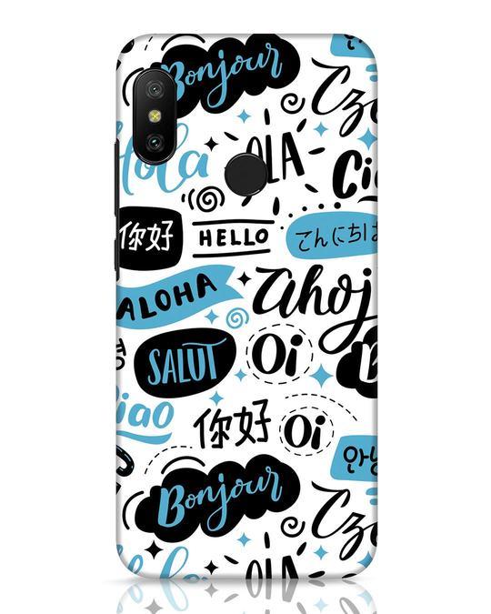 Shop Hello Xiaomi Redmi Note 6 Pro Mobile Cover-Front
