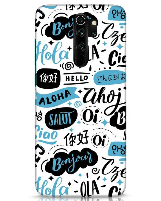 Shop Hello Xiaomi Redmi Note 8 Pro Mobile Cover-Front