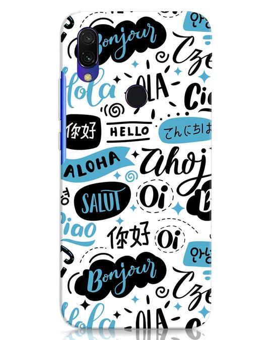 Shop Hello Xiaomi Redmi Y3 Mobile Cover-Front
