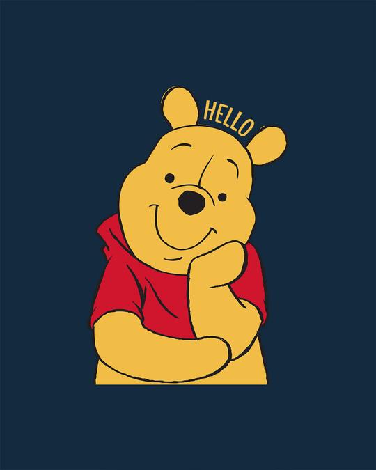 Shop Hellow Pooh Boyfriend T-Shirt (DL)