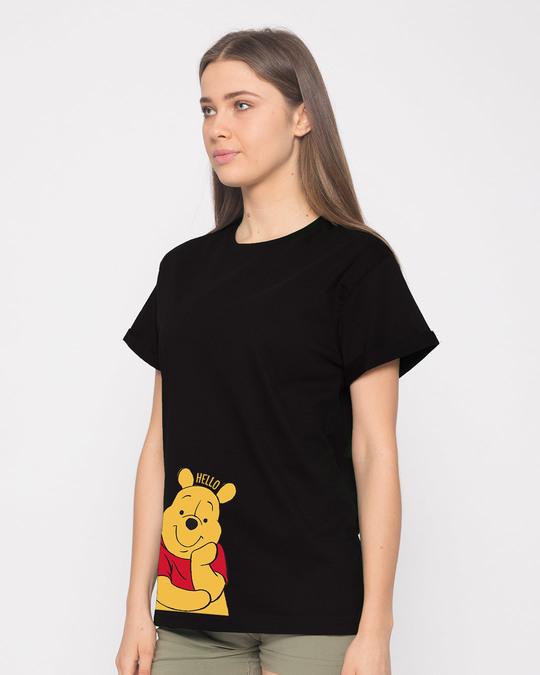Shop Hellow Pooh Boyfriend T-Shirt (DL)-Back