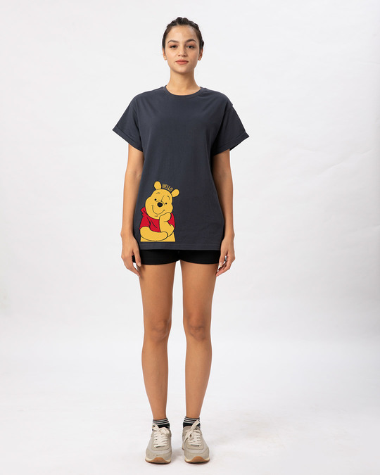 Shop Hellow Pooh Boyfriend T-Shirt (DL)-Full