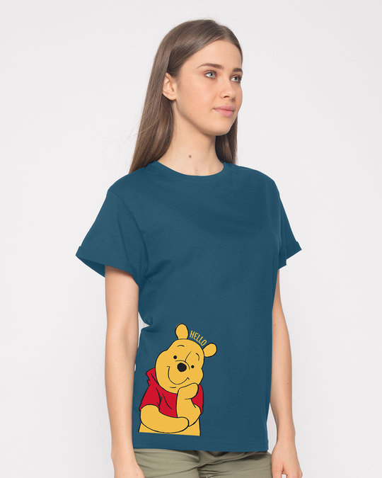 Shop Hellow Pooh Boyfriend T-Shirt (DL)-Back
