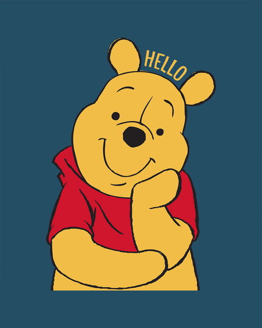 Shop Hellow Pooh Boyfriend T-Shirt (DL)