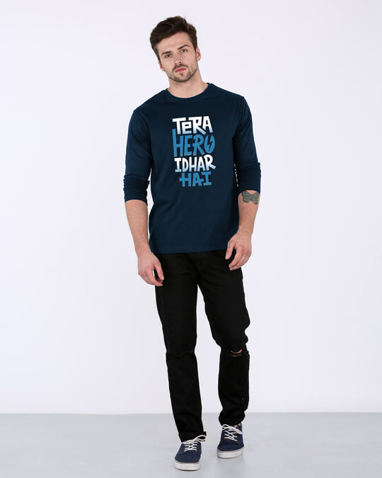 Shop Hero Idhar Hai Full Sleeve T-Shirt