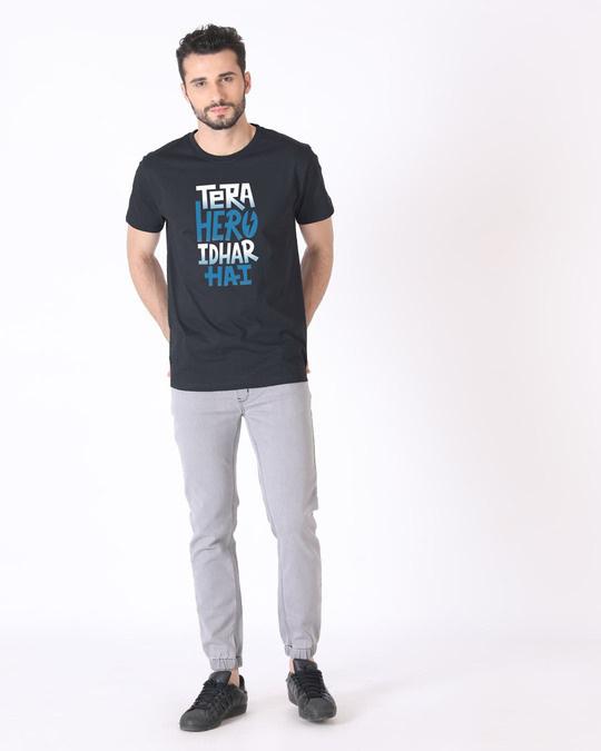 Shop Hero Idhar Hai Half Sleeve T-Shirt