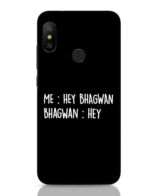 Shop Hey Bhagwan Xiaomi Redmi Note 6 Pro Mobile Cover-Front