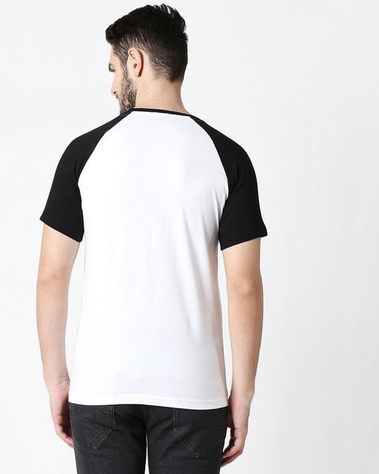 Shop Hey There Imposter Half Sleeve Raglan T-Shirt White-Black-Design