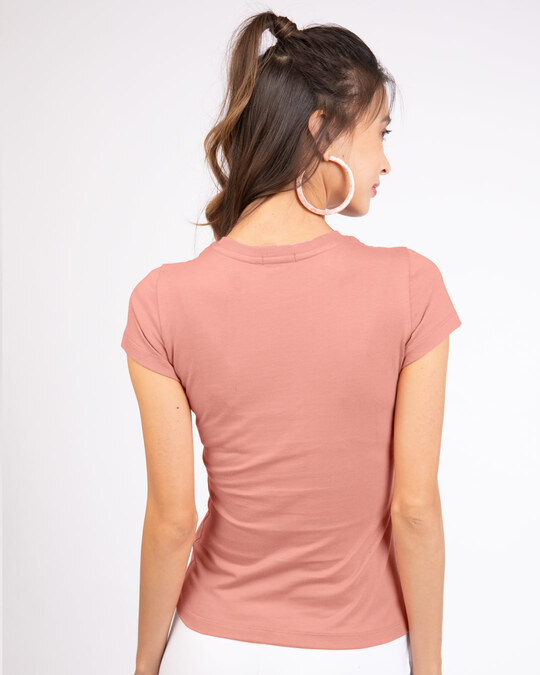 Shop Hey There Stay There Half Sleeve T-Shirt Misty Pink-Back