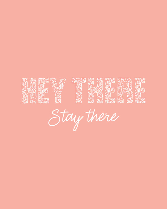 Shop Hey There Stay There Half Sleeve T-Shirt Misty Pink-Full