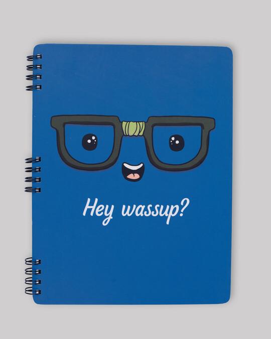 Shop Hey Wassup? Spiral Notebook-Front