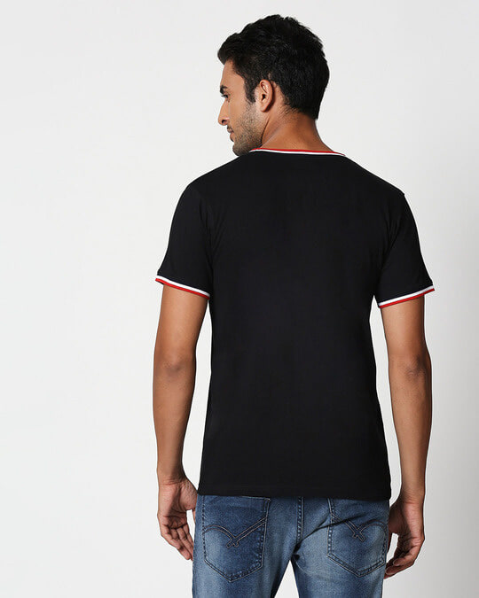 Shop High Colors Crewneck Varsity Rib H/S T-Shirt-Back