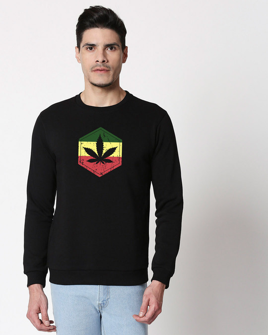Shop High Colors Fleece Sweater Black-Front