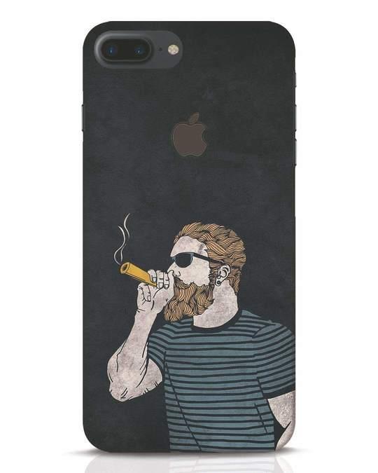 Shop High Dude iPhone 7 Plus Logo Cut Mobile Cover-Front