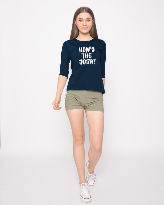 Shop High Josh Round Neck 3/4th Sleeve T-Shirt-Full
