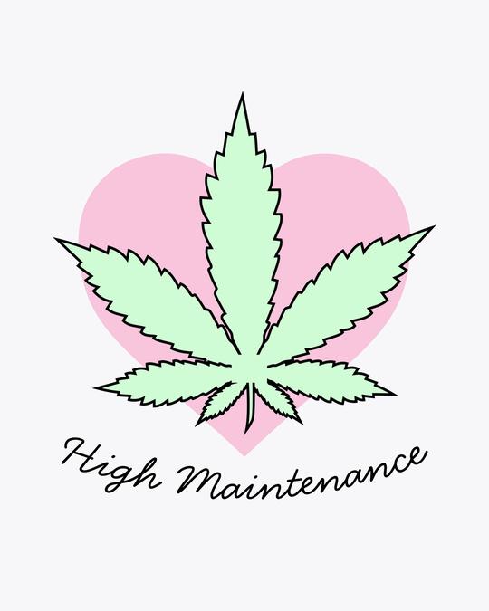 Shop High Maintenance Round Neck 3/4th Sleeve T-Shirt-Full