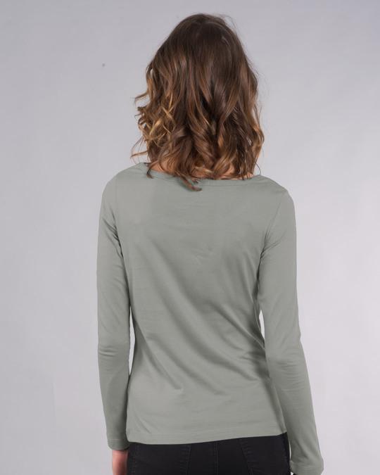 Shop High Maintenance Scoop Neck Full Sleeve T-Shirt-Back