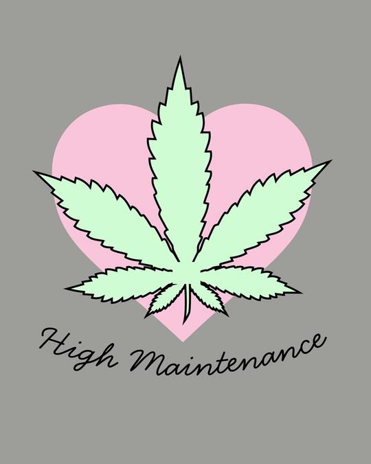 Shop High Maintenance Scoop Neck Full Sleeve T-Shirt-Full