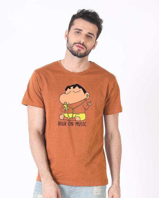 Shop High Music Shinchan Half Sleeve T-Shirt (SHL)-Back
