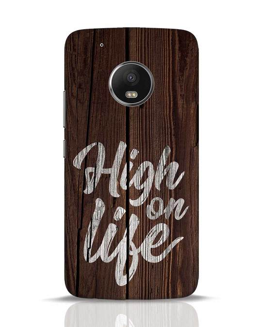 Shop High On Life Moto G5 Plus Mobile Cover-Front
