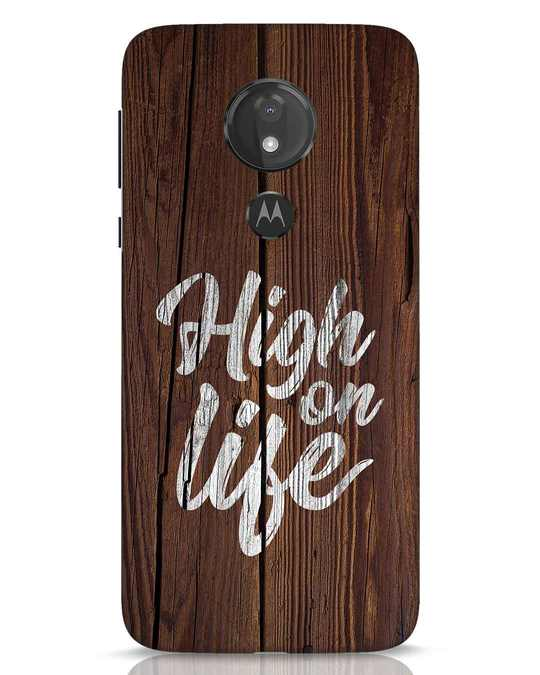 Shop High On Life Moto G7 Power Mobile Cover-Front