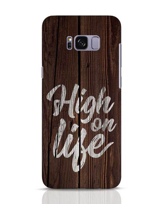 Shop High On Life Samsung Galaxy S8 Mobile Cover-Front