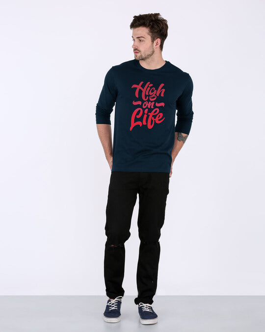 Shop High On Life Vector Full Sleeve T-Shirt