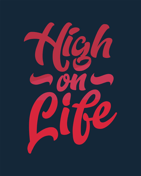 Shop High On Life Vector Round Neck 3/4th Sleeve T-Shirt