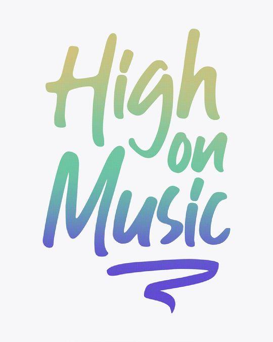 Shop High On Music Boyfriend T-Shirt