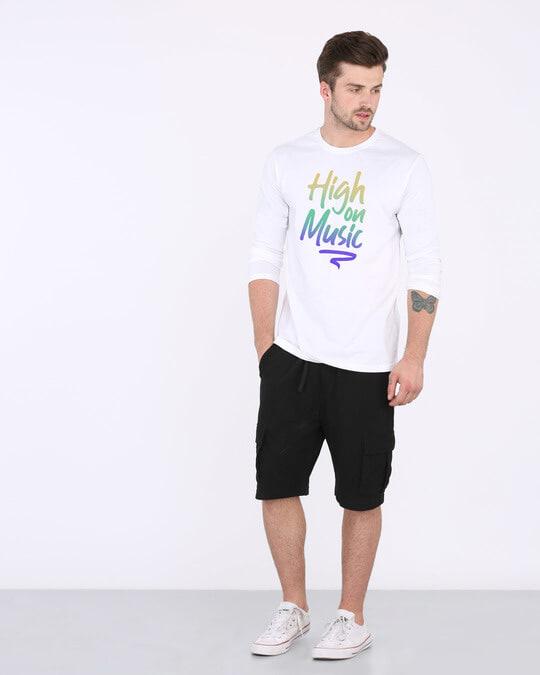 Shop High On Music Full Sleeve T-Shirt