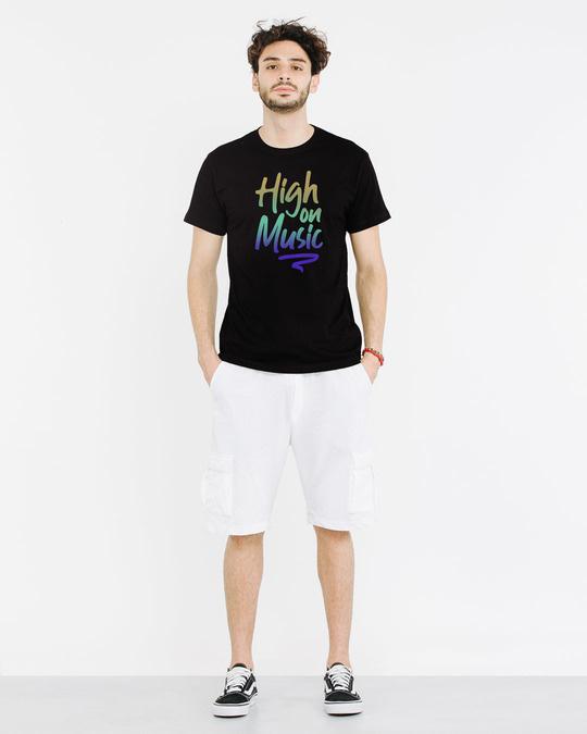 Shop High On Music Half Sleeve T-Shirt