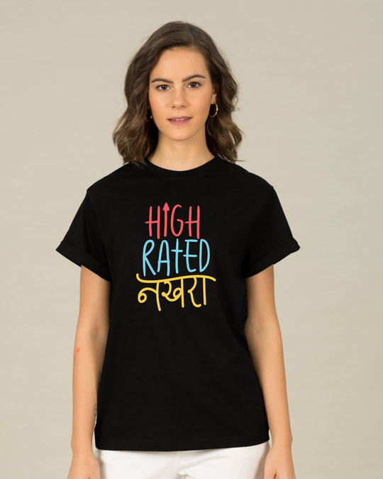 Shop High Rated Nakhra Boyfriend T-Shirt-Front