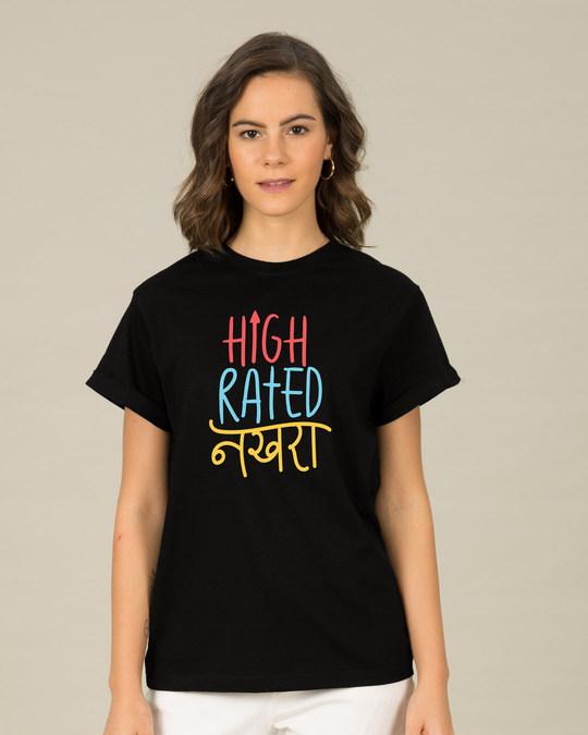 Shop High Rated Nakhra Boyfriend T-Shirt-Front