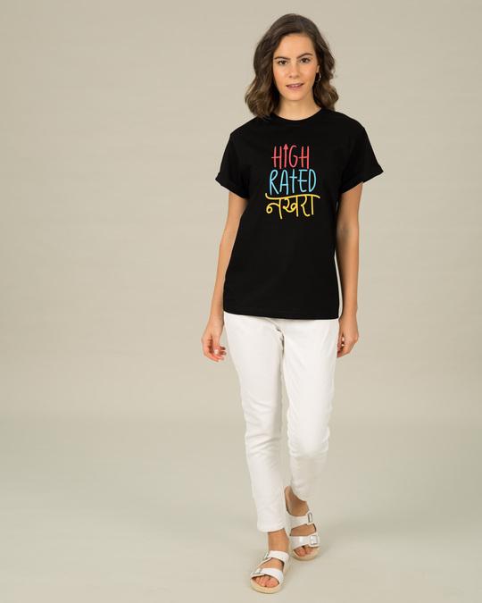 Shop High Rated Nakhra Boyfriend T-Shirt-Design