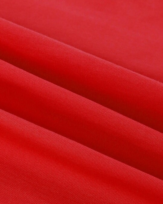 Shop Retro Red 3/4 Sleeve Round Neck T-Shirt
