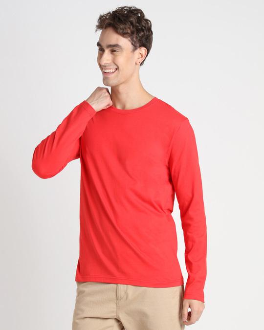 Shop Retro Red Full Sleeve T-Shirt-Back
