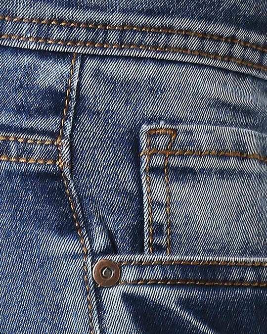 Shop Men Blue Slim Fit Mid Rise Clean Look Stretchable Jeans