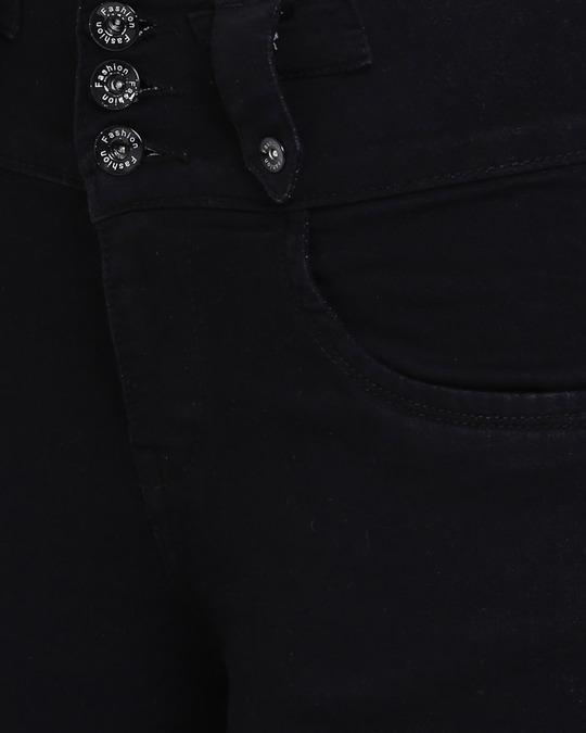 Shop Womens Black Washed Slim Fit High Waist Jeans