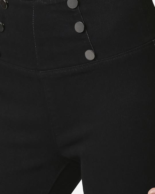Shop Womens Black Washed Slim Fit High Waist Jeggings
