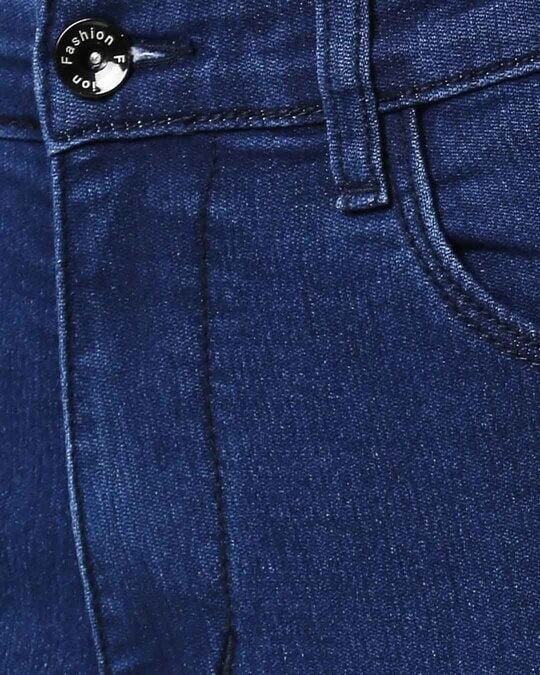 Shop Womens Blue Washed Slim Fit High Waist Jeans
