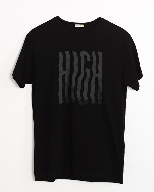 Shop High Typography Half Sleeve T-Shirt-Front