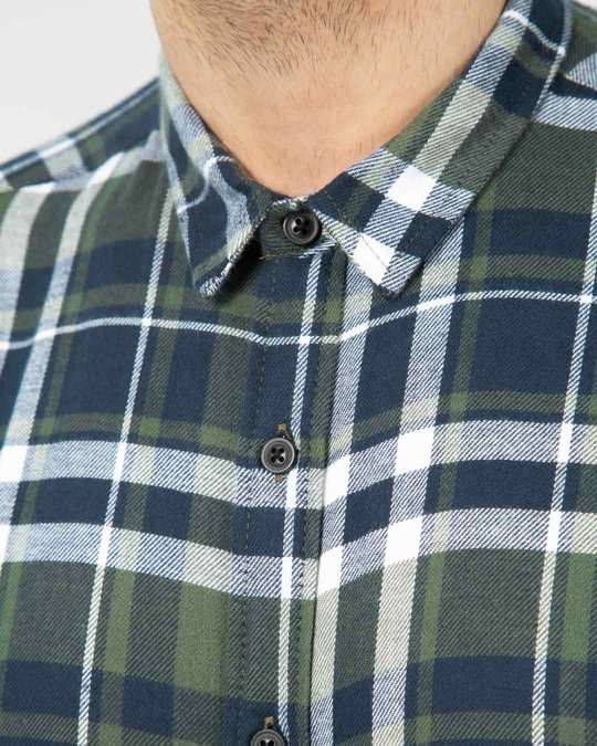 Shop Highlander Green Checked Shirt