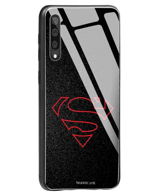 Shop Highlighted Superman Samsung Galaxy A50 Glass Mobile Cover-Back