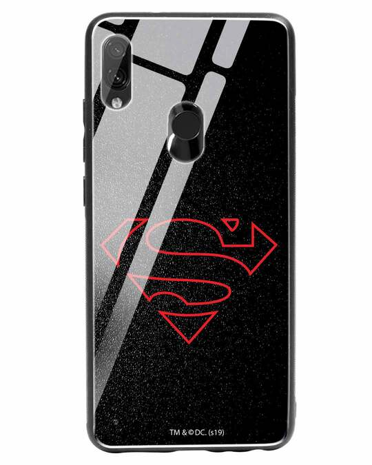 Shop Highlighted Superman Xiaomi Redmi Note 7 Glass Mobile Cover-Front