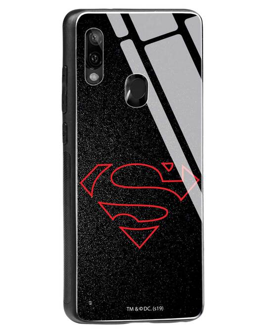 Shop Highlighted Superman Xiaomi Redmi Note 7 Glass Mobile Cover-Back