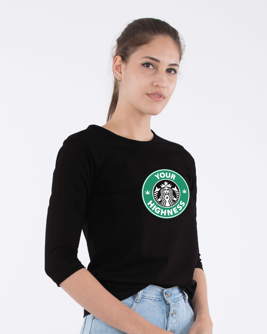 Shop Highness Round Neck 3/4th Sleeve T-Shirt-Back
